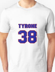 National football player Tyrone Grant jersey 38 T-Shirt