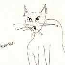 Sketched Cats 6 by Gabriele Maurus