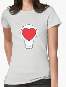 Let Love Light The Way ... Womens Fitted T-Shirt