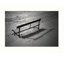 The Cold and Lonely Seat Art Print