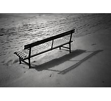 The Cold and Lonely Seat Photographic Print