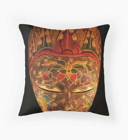 Mask... Throw Pillow