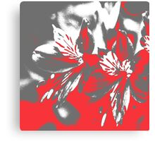 Homescape - grey and red orchid 2 Canvas Print