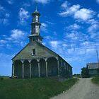 A Chilote church, Isla Chiloe, Chile by Syd Winer