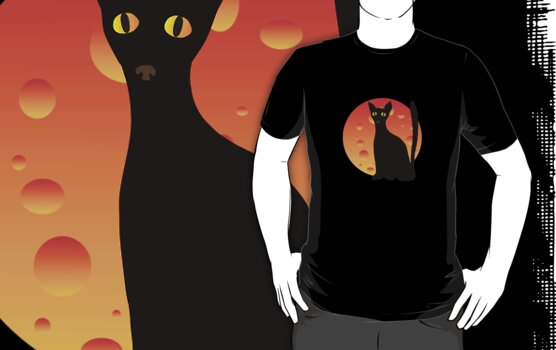 Black Cat & Moon by VioDeSign