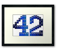 TARDIS in 42 Framed Print