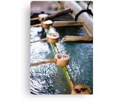 Handwashing Japanese Style Canvas Print