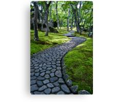 Path Through Moss Canvas Print