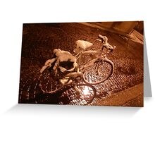 old bicycle--ITALY - 2000 visualizzaz.gennaio 2015-FEATURED RB EXPLORE VETRINA       20 APRILE2012--- Greeting Card