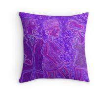 Disco dancers  Throw Pillow