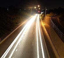 Expressway at Night by monzastar