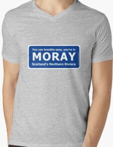 You can breathe easy, you're in Moray - Scotland's Northern Riviera Mens V-Neck T-Shirt