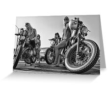 Cafe Racer Babes Greeting Card