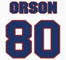 National football player Orson Charles jersey 80 by imsport