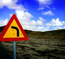 A Sign, Iceland by Kate Hall