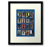 Doors of New Orleans Framed Print