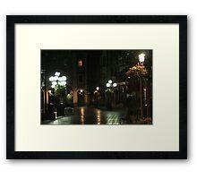 The Night street in Brussels (Belgium) Framed Print