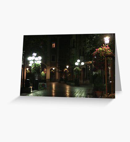 The Night street in Brussels (Belgium) Greeting Card