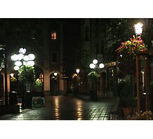The Night street in Brussels (Belgium) Photographic Print