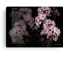 Night Blossoms (poster) Canvas Print