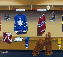 nhl original 6 painting by mrminorr