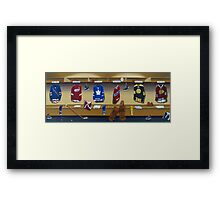 nhl original 6 painting Framed Print