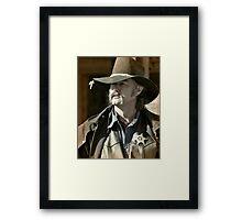 Bygone Time Sheriff Framed Print