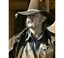 Bygone Time Sheriff Photographic Print