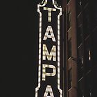 Tampa Vintage Sign by Kadwell