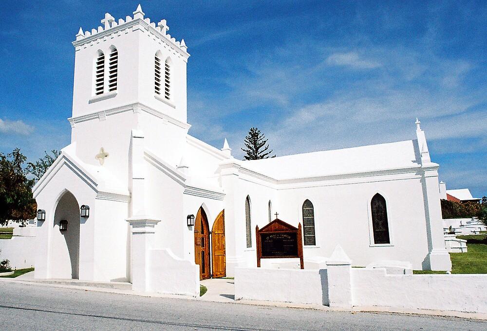 Stark white chapel... by Steve Mezardjian