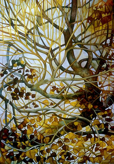 yellow leaves by elisabetta trevisan