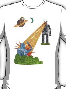 Damask Robot Fight T-Shirt