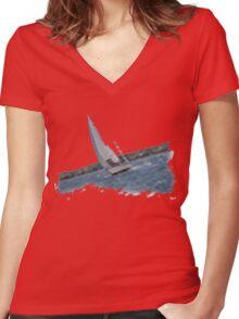 Utopia! Women's Fitted V-Neck T-Shirt