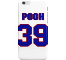 National football player Pooh Bear jersey 39 iPhone Case/Skin