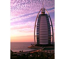 Burj Al Arab at Sunset Photographic Print