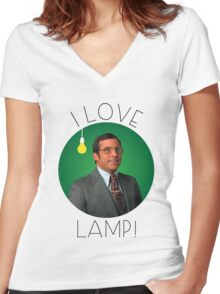 I love lamp Women's Fitted V-Neck T-Shirt
