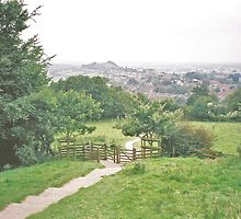 Glastonbury and Wearyall Hill Seen From the Tor by HELUA
