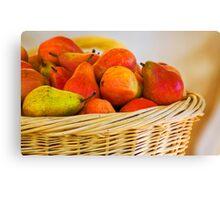 Basket of Pairs Harvest Canvas Print