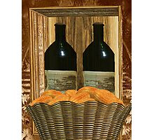 Bread and Wine Photographic Print
