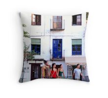 Plaza Santa Maria, Granada Throw Pillow