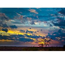 Sunset at DSR Ranch I Photographic Print