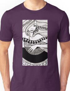 lady with fan Unisex T-Shirt