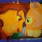 Simba And Nala by Caroline Smalley