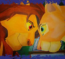 Simba And Nala by Caroline Smalley