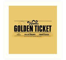 Golden Ticket Art Print