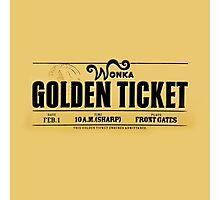 Golden Ticket Photographic Print