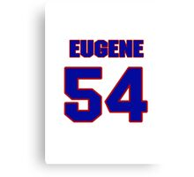 National football player Eugene Marve jersey 54 Canvas Print