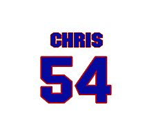 National football player Chris McCoy jersey 54 Photographic Print
