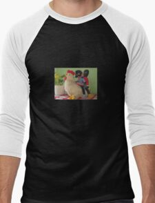 Gollies riding a Chicken Men's Baseball ¾ T-Shirt