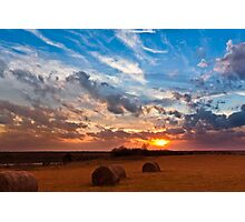 Sunset at DSR Ranch II Photographic Print
